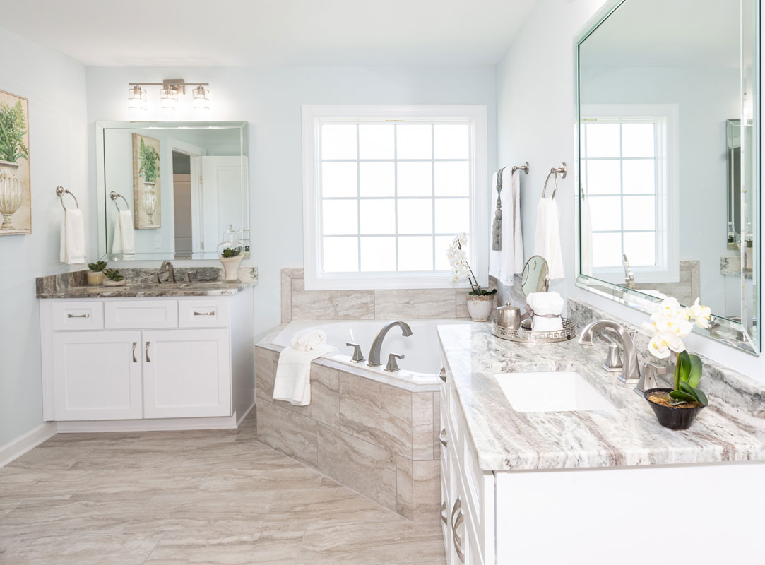 The Glendale Model Master Bathroom