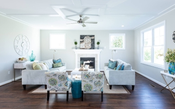 The Glendale Model Living Room